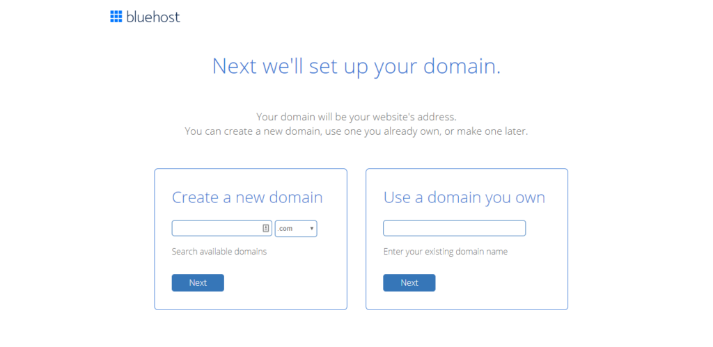 Register and Sign up Now For Bluehost